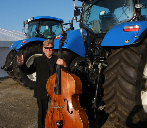 Mike Porter-Ward and his tractor